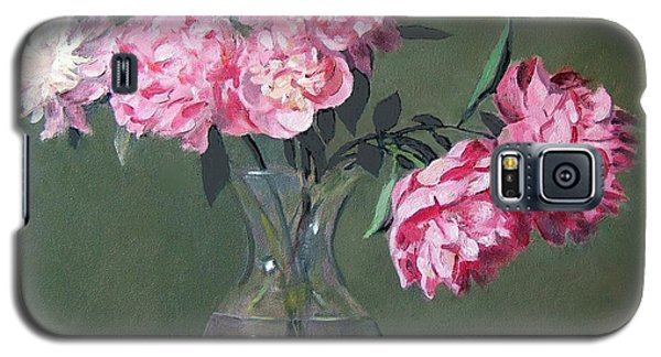 Pink Peonies Walking The Plank Galaxy S5 Case