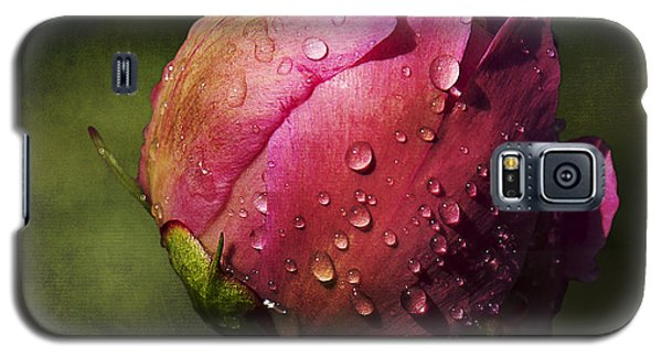 Pink Peony Bud With Dew Drops Galaxy S5 Case