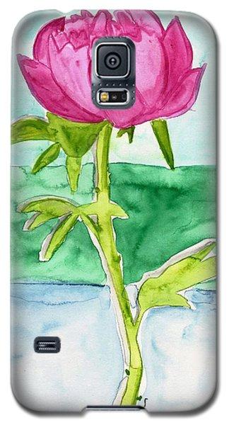 Pink Peony Galaxy S5 Case