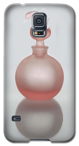 Galaxy S5 Case featuring the photograph Pink Perfume Bottle Vertical by David and Carol Kelly