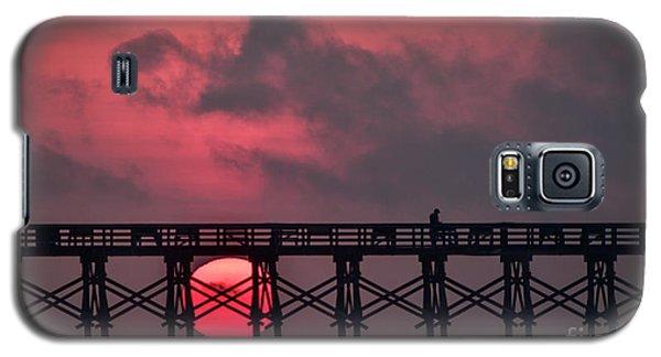 Pink Pier Sunrise Galaxy S5 Case
