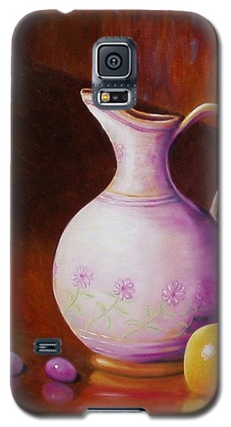 Galaxy S5 Case featuring the painting Pink Pitcher by Gene Gregory