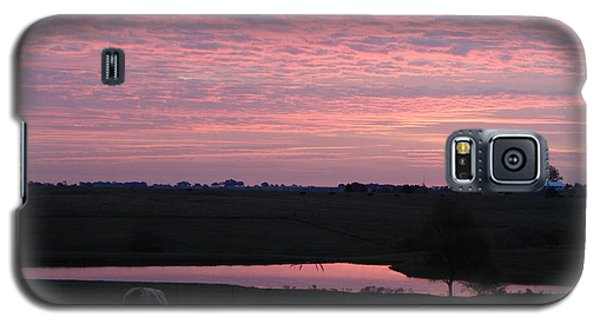 Pink Pond And Cow #5110 Galaxy S5 Case