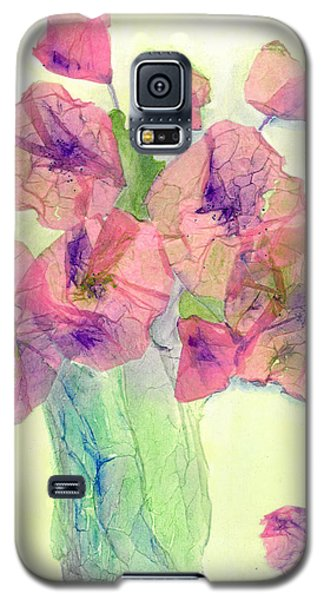 Pink Poppies Galaxy S5 Case by Veronica Rickard