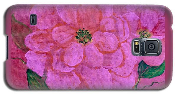 Pink Rose Flowers Galaxy S5 Case