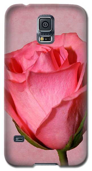 Galaxy S5 Case featuring the photograph Pink Rose by Judy Vincent