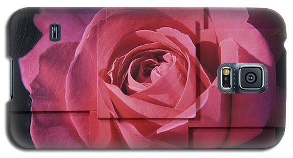 Pink Rose Photo Sculpture Galaxy S5 Case by Michael Bessler