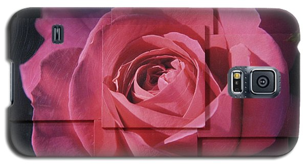 Pink Rose Photo Sculpture Galaxy S5 Case