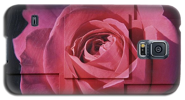 Pink Rose Photo Sculpture Galaxy S5 Case