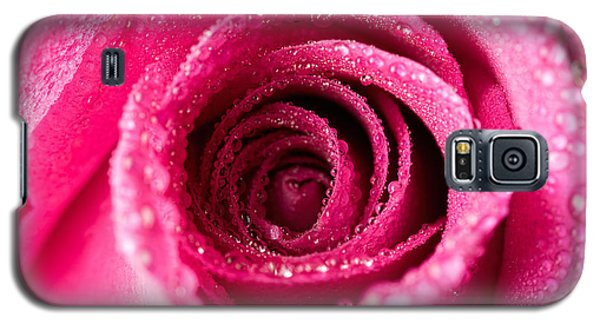 Pink Rose With Droplets Galaxy S5 Case