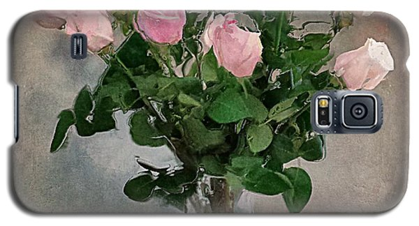 Galaxy S5 Case featuring the digital art Pink Roses by Alexis Rotella