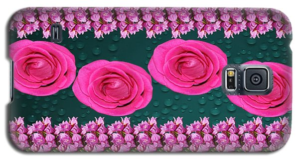 Pink Roses Floral Display Galaxy S5 Case by Gary Crockett