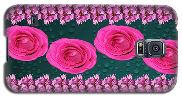 Pink Roses Floral Display Galaxy S5 Case