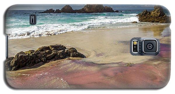 Pink Sand Beach In Big Sur Galaxy S5 Case