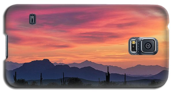 Galaxy S5 Case featuring the photograph Pink Silhouette Sunset  by Saija Lehtonen