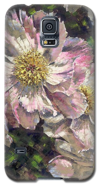 Pink Single Peonies Galaxy S5 Case