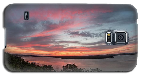 Pink Skies And Clouds At Sunset Over Lake Travis In Austin Texas Galaxy S5 Case
