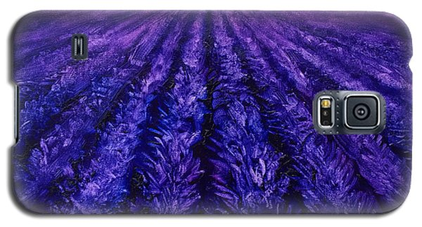 Pink Skies - Lavender Fields Galaxy S5 Case by Karen Whitworth