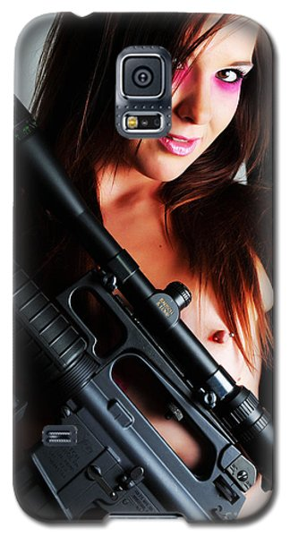 Pink Sniper Galaxy S5 Case by Robert WK Clark