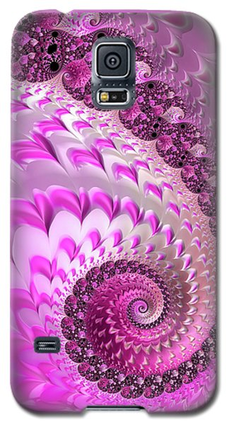 Pink Spiral With Lovely Hearts Galaxy S5 Case