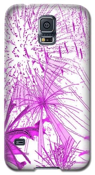 Galaxy S5 Case featuring the digital art Pink Splash Watercolor by Methune Hively