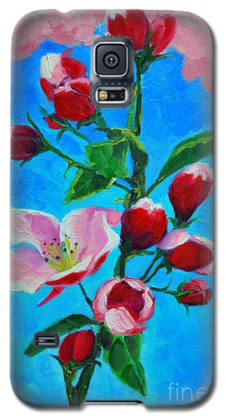 Galaxy S5 Case featuring the painting Pink Spring by Ana Maria Edulescu