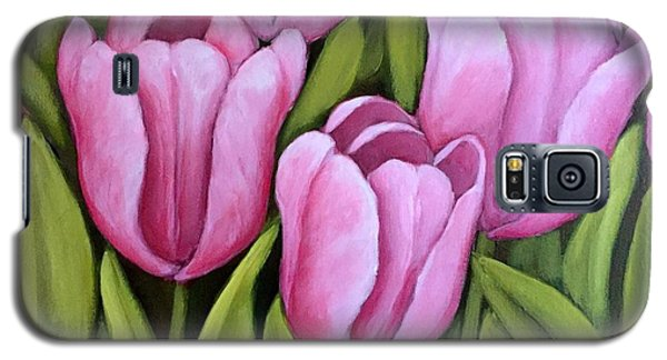 Pink Spring Tulips Galaxy S5 Case