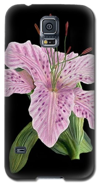 Pink Tiger Lily Blossom Galaxy S5 Case by Walter Colvin