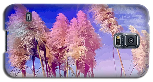 Pink Toi Toi Grasses Galaxy S5 Case