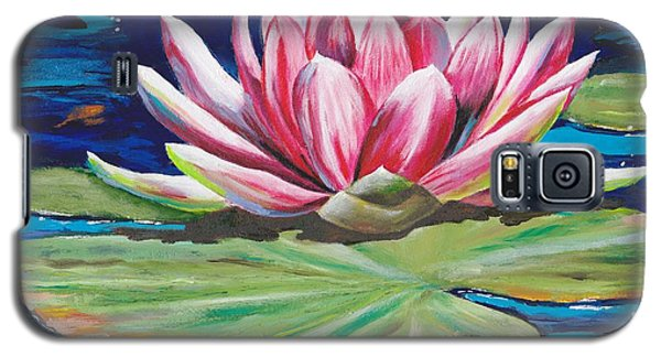 Galaxy S5 Case featuring the painting Pink Tranquility by Mary Scott