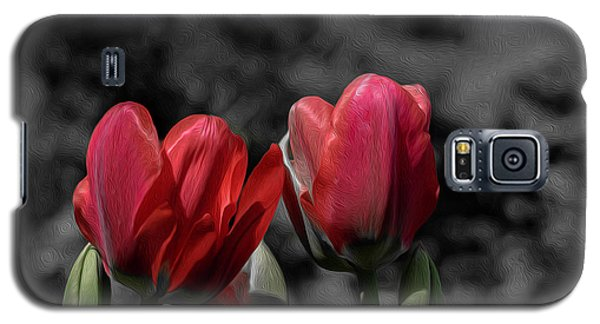 Pink Tulip Pop Galaxy S5 Case