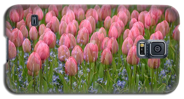 Galaxy S5 Case featuring the photograph Pink Tulips by Phyllis Peterson