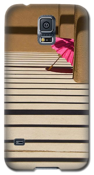 Galaxy S5 Case featuring the photograph Pink Umbrella by Carolyn Dalessandro