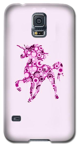 Pink Unicorn - Animal Art Galaxy S5 Case