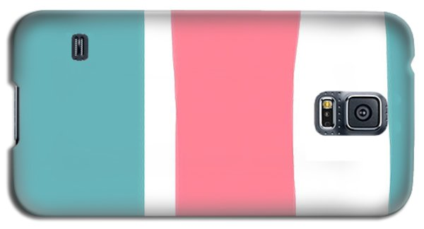 Galaxy S5 Case featuring the painting Pink White Blue 2 by Bonnie Bruno