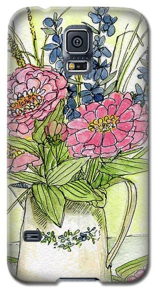 Pink Zinneas Galaxy S5 Case
