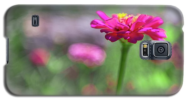 Pink Zinnia Galaxy S5 Case