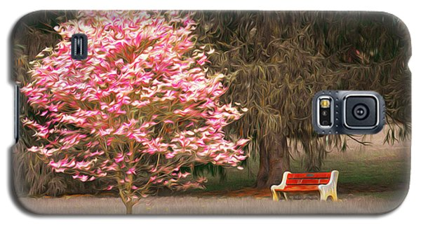 Pinky And The Bench - Impressionism Galaxy S5 Case