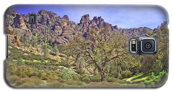 Galaxy S5 Case featuring the photograph Pinnacles National Park Watercolor by Art Block Collections