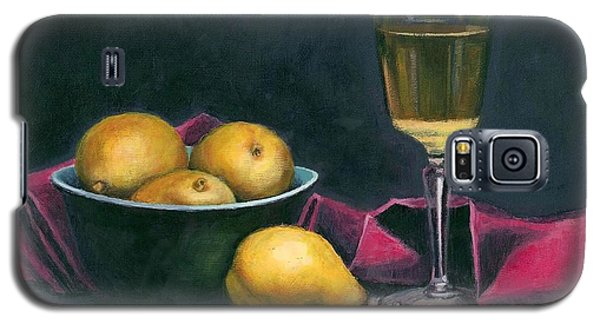 Pinot And Pears Still Life Galaxy S5 Case by Janet King