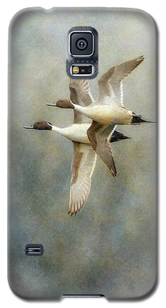 Galaxy S5 Case featuring the photograph Pintail Duo by Angie Vogel