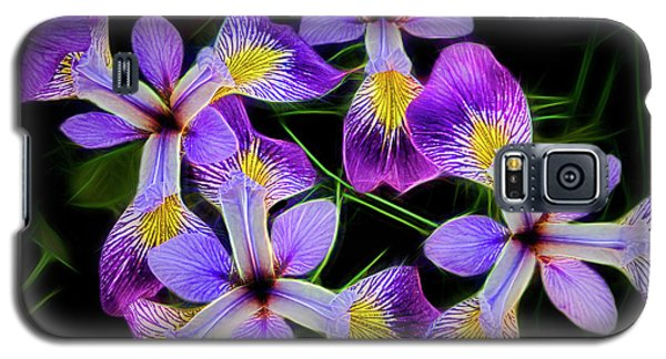 Pinwheel Purple Iris Glow Galaxy S5 Case