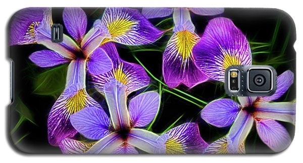 Pinwheel Purple Iris Glow Galaxy S5 Case