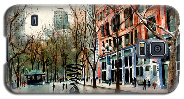 Galaxy S5 Case featuring the painting Pioneer Square by Marti Green