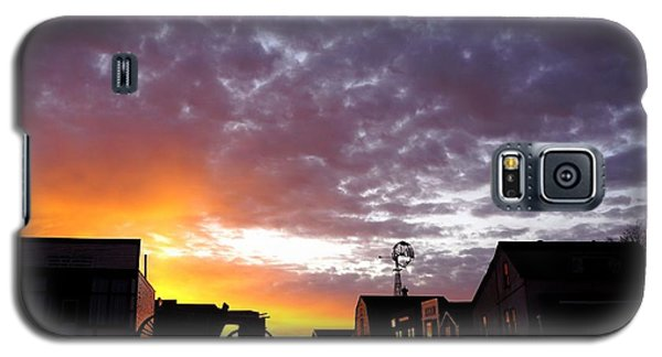 Pioneer Town Sunset Galaxy S5 Case