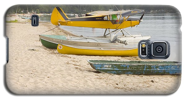Piper Super Cub Floatplane Near Pond In Maine Canvas Poster Print Galaxy S5 Case by Keith Webber Jr