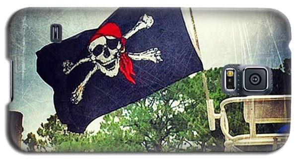 Patriotic Galaxy S5 Case - Pirate Flag #boating #msgulfcoast by Joan McCool