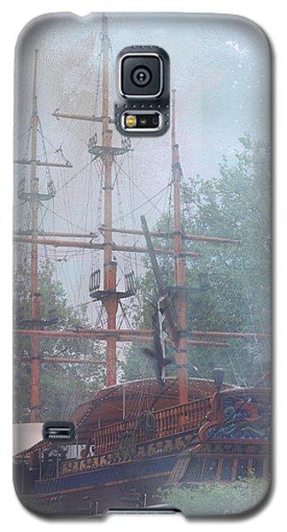 Pirate Ship Hiding In Cove Galaxy S5 Case