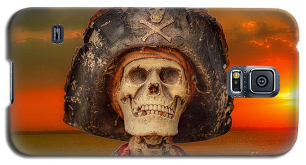 Pirate Skeleton Sunset Galaxy S5 Case by Randy Steele