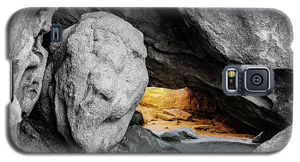 Pirate's Cave, Black And White And Gold Galaxy S5 Case